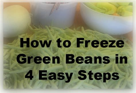 how to freeze green beans our heart and homeour heart