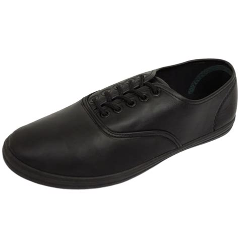 flat black shoe mens flat black comfy lace up pumps plimsoles trainers