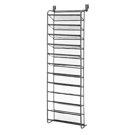 Whitmor 36 Pair The Door Shoe Rack Shopko Whitmor 36 Pair Gunmetal The Door Shoe Rack Metal Shoe Organizer 6037 7037 Gm The Home Depot