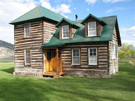 2 Story Log Cabin by 1907 Historic Log Cabin Historic 2 Story Hewn Log
