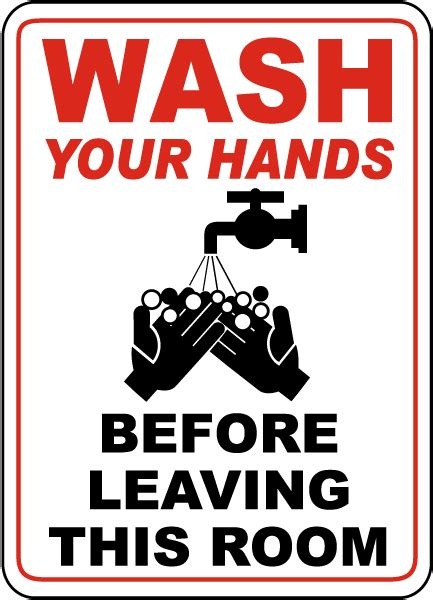 comfort room reminders wash your hands before leaving sign d5736 by safetysign com