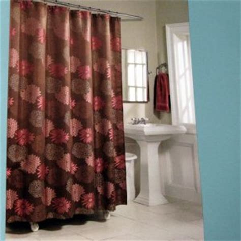 brown and red shower curtain kohl s mariana brown pink fabric shower curtain by home
