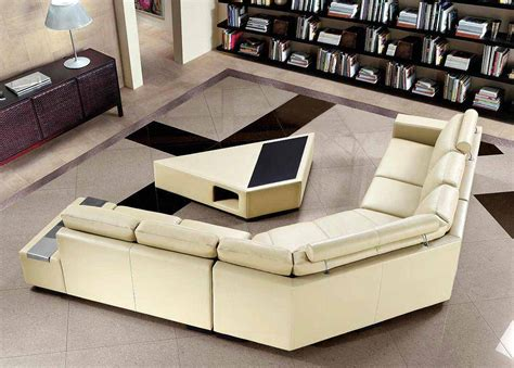 Tables For Sectional Sofas by Beige Sectional Sofa With Coffee Table Leather Sectionals