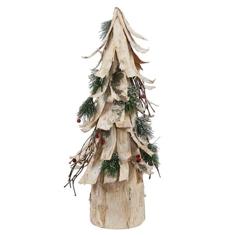 20 inch birch bark berry pine artificial cone christmas