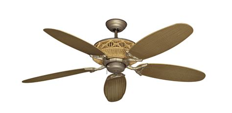 Wicker Ceiling Fans by 52 Inch Tiki Outdoor Tropical Ceiling Fan Leaf Wicker Blades