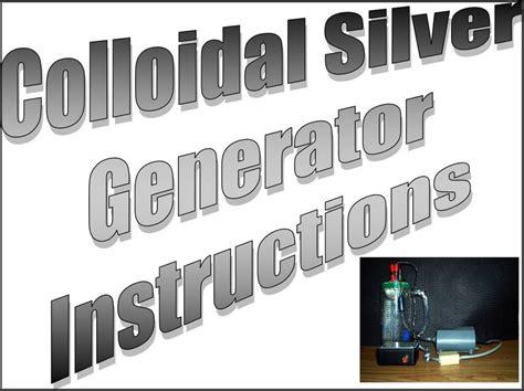 high voltage ac colloidal silver generator colloidal silver ac generators 99999 silver help