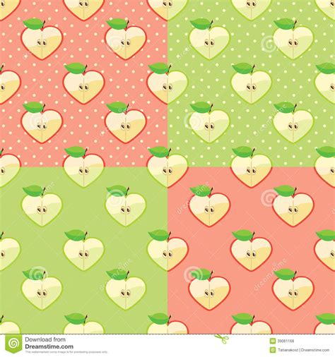 pattern apple background apples in seamless pattern with polka dot stock vector