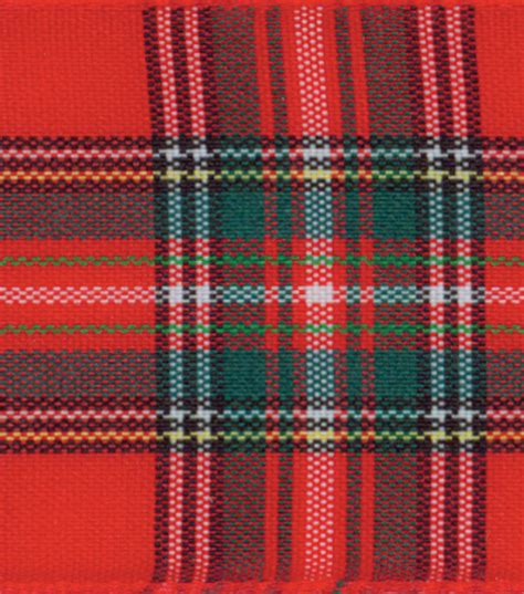 tartan plaid wide plaid ribbon plaid jo