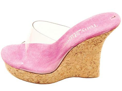 tony shoes cork wedge high heel platform mules sandals