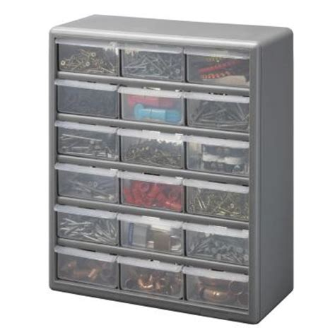 stack on 18 drawer storage cabinet gray ds 18 the home