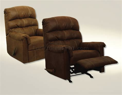modern rocker recliners chocolate or tanner fabric capri modern handle rocker recliner
