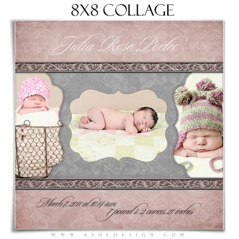 collage template baby ashedesign 8x8 baby collage ashedesign