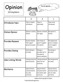 Image result for 2nd grade opinion writing rubric