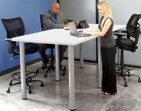 table standing standing height conference tables 8 length