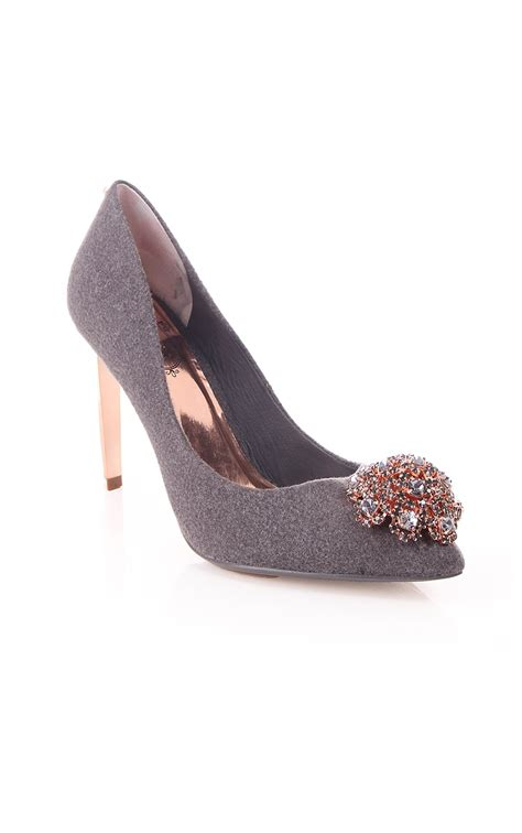 ted baker womens ted baker womens peetch court shoe in