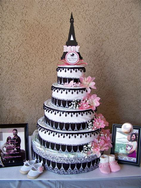 Eiffel Tower Baby Shower Cakes by Themed Baby Shower Eiffel Tower Cake You Said You Wanted To Make Me A