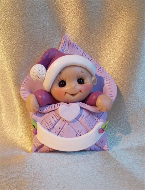 Polymer Clay Baby Shower Favors by Baby S Ornament Personalized Baby Gift