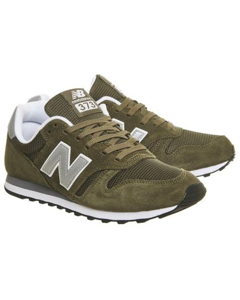 New Balance 373 Olive Green new balance 373 in green for lyst