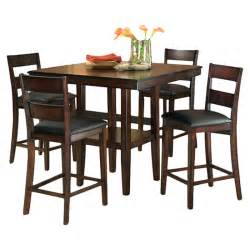 counter height dining room chairs 5 piece counter height dining room set table chair dinette