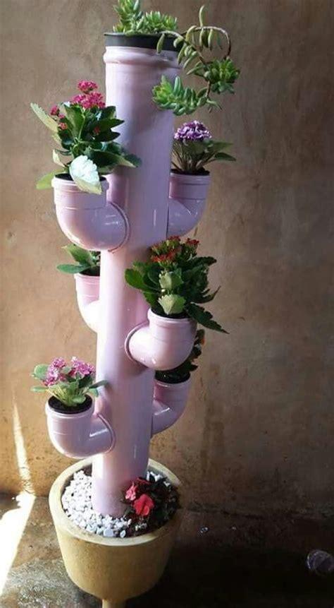 jardinera cactus de pvc manualidades de jardin