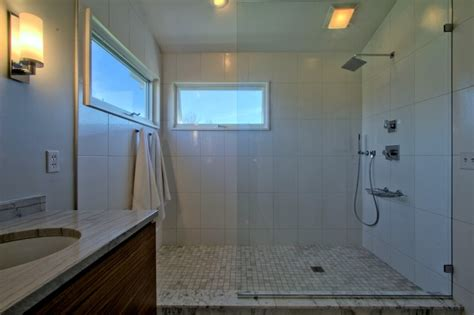 problem my open concept room doesn t have suitable walls open concept shower with glass partition and no door