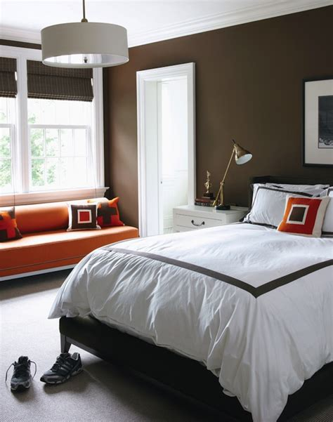 brown and orange bedroom ideas brown and orange bedroom contemporary boy s room