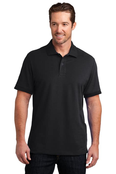 Polo Fit To M Spandex Cotton Ld 84 P 58 District Made Mens Stretch Pique Polo Dm325 Blank