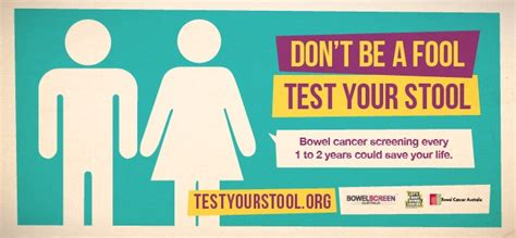 Bowel Cancer Stool Test by New Bowel Cancer Caign Don T Be A Fool Test Your