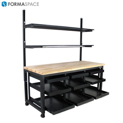 warehouse packing benches workbench with shelves images how to build a garage work