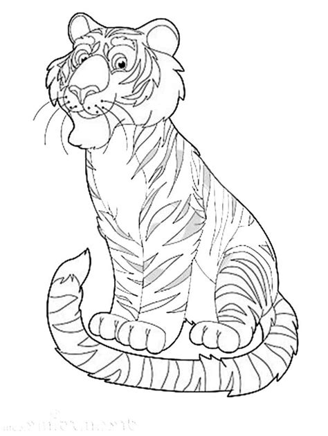 coloring pages exotic animals happy safari with exotic animal tiger coloring page happy