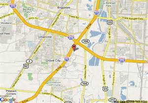 Grove City Ohio Map by Map Of Holiday Inn Express And Suites Grove City Grove City