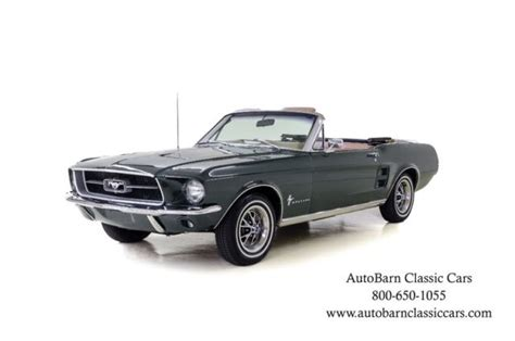 Sale Darvina 169937 1 1967 ford mustang 41374 green convertible 289 ci 3 spd manual for sale ford mustang