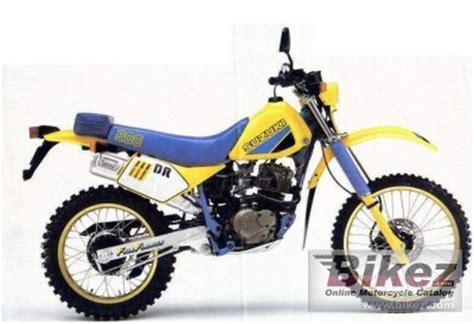 Suzuki Dr200 Parts 1985 Suzuki Dr 200 Specifications And Pictures