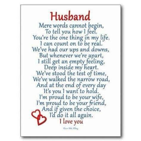 husband   i love you poem   Happily ever after
