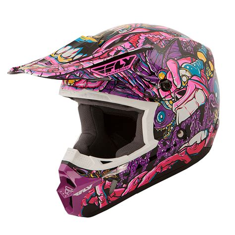 purple motocross helmet fly racing 2016 kinetic jungle youth purple motocross