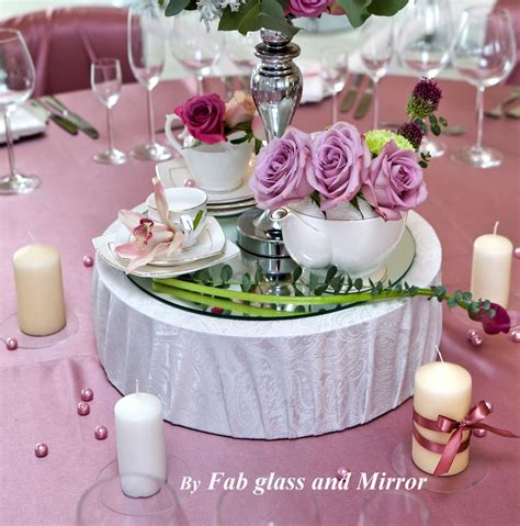 10 quot mirrors plates table centerpiece set of 10