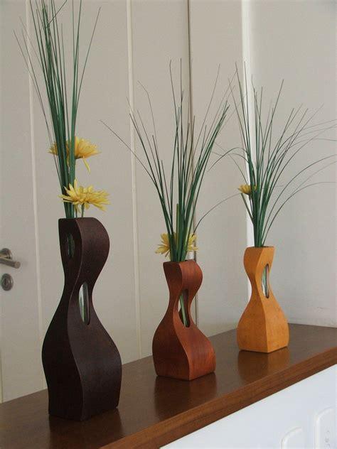 floreros en madera florero madera jarrones y floreros pinterest