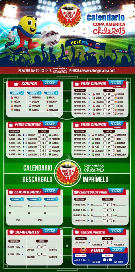 Calendario De La Copa America Calendario De La Copa Am 233 Rica Caf 233 Aguila Roja