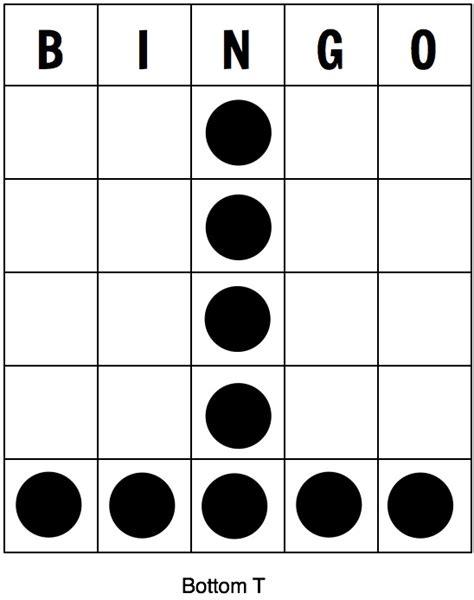 bingo pattern exles chsr fm 97 9 bingo shapesbingo shapes chsr fm 97 9