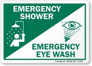 emergency shower sign emergency shower eye wash sign with symbols sku s2 0587