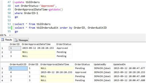 Sql Server Audit Table Changes Create A Simple Sql Server Trigger To Build An Audit Trail