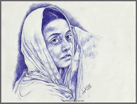 drawing on jayanta punti drawing on canvas