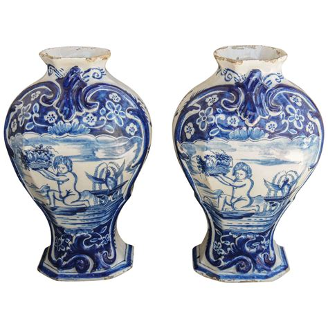 Two Vases by Two 18th Century Delft Pottery Vases At 1stdibs