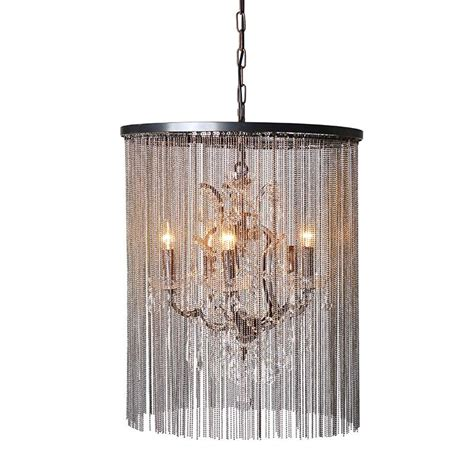 Glass Chain Chandelier Large And Glass Chain Chandelier Light Mulberry Moon