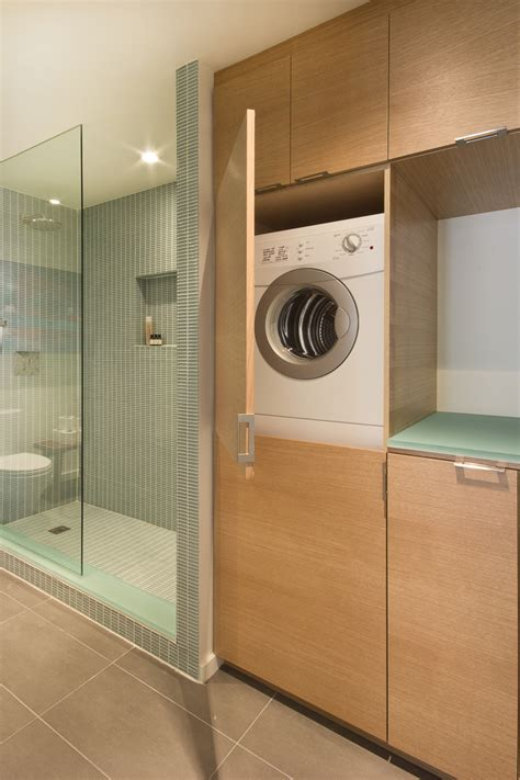 how to hide washer and dryer in bathroom 23 small bathroom laundry room combo interior and layout