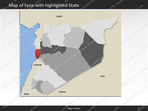 template syria syria map editable map of syria for powerpoint