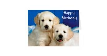 Wood Wedding Invitations Happy Birthday Golden Retriever Puppy Card Zazzle
