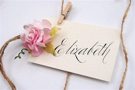 vintage wedding name cards vintage wedding calligraphy place name cards exclusive