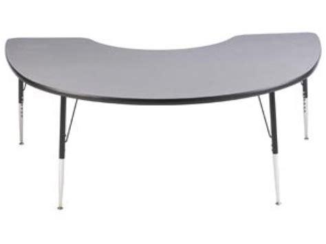 study adjustable kidney shaped school table 72x48