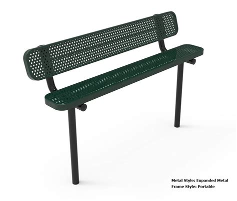 metal bench with back rhino 8 foot rectangular thermoplastic metal bench with